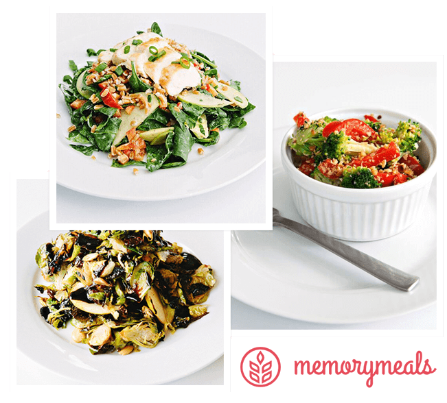 Photos of chef-created dishes for MemoryMeals - Only available in Indiana at Westminster Village North.