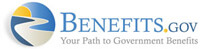 Logo - Benefits.gov - Official benefits site of the US Government - Click to learn more at their website