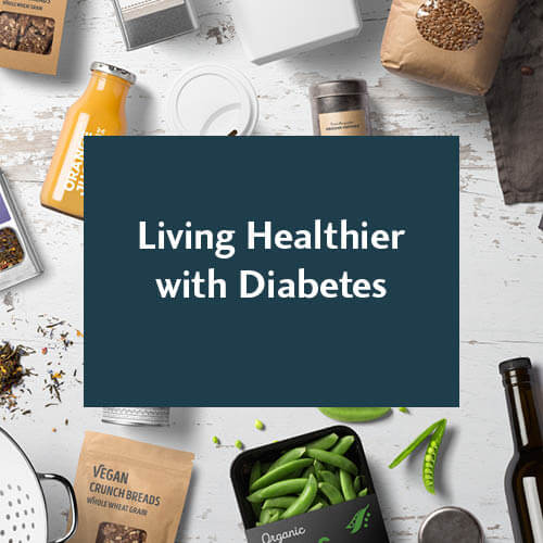 Living healthier with Diabetes graphic