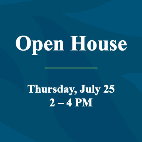 Open House July 25 feature image