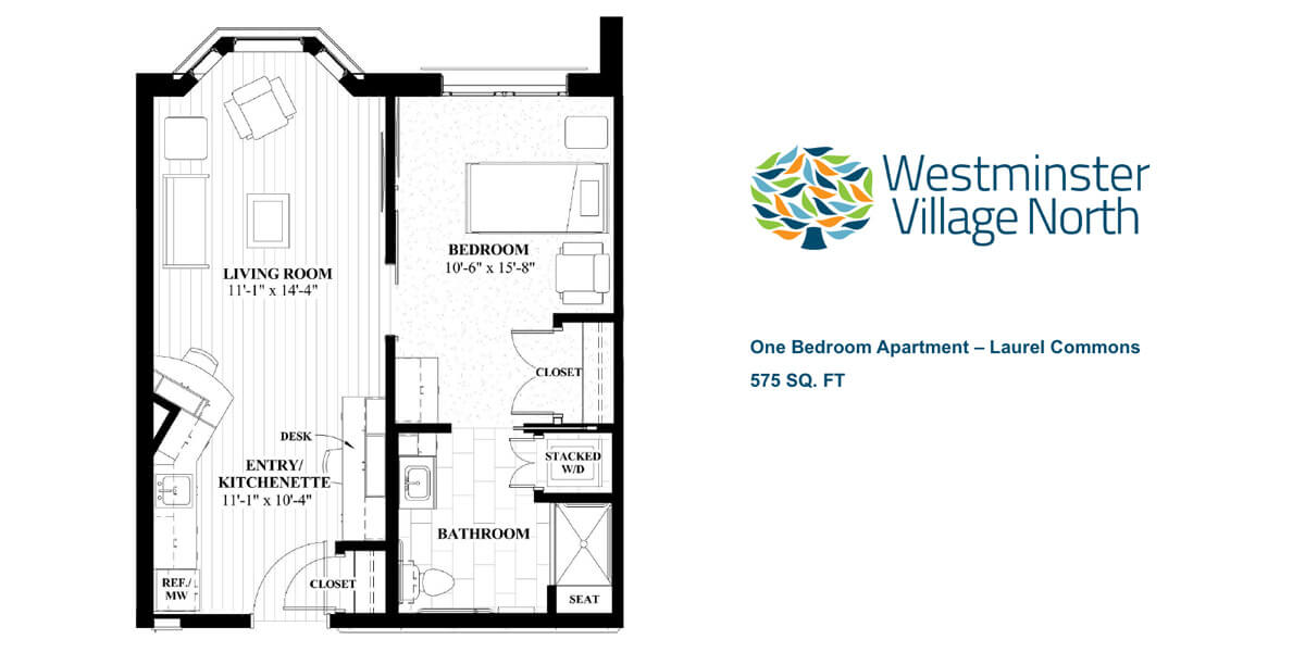 One Bedroom Apartments in Laurel Commons