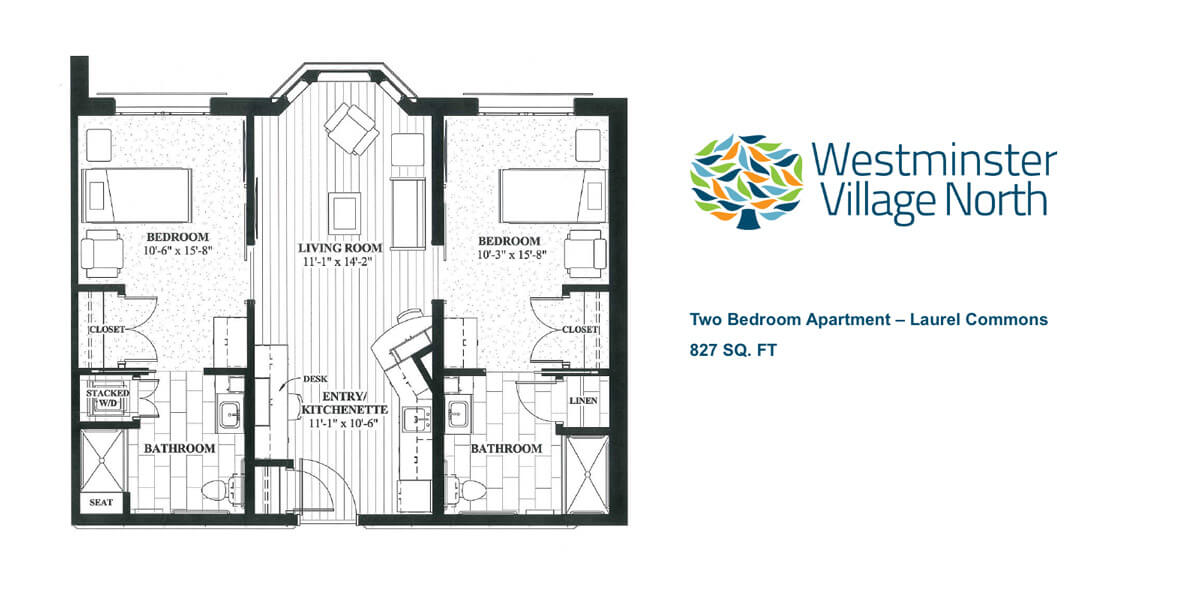 Two Bedroom Apartments in Laurel Commons