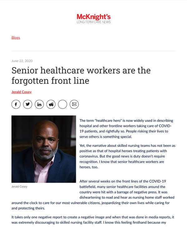 Senior healthcare workers are the forgotten front line.