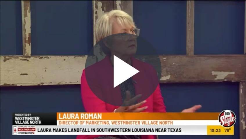 Laura Roman is interviewed by WISH TV 8 - Indy Style